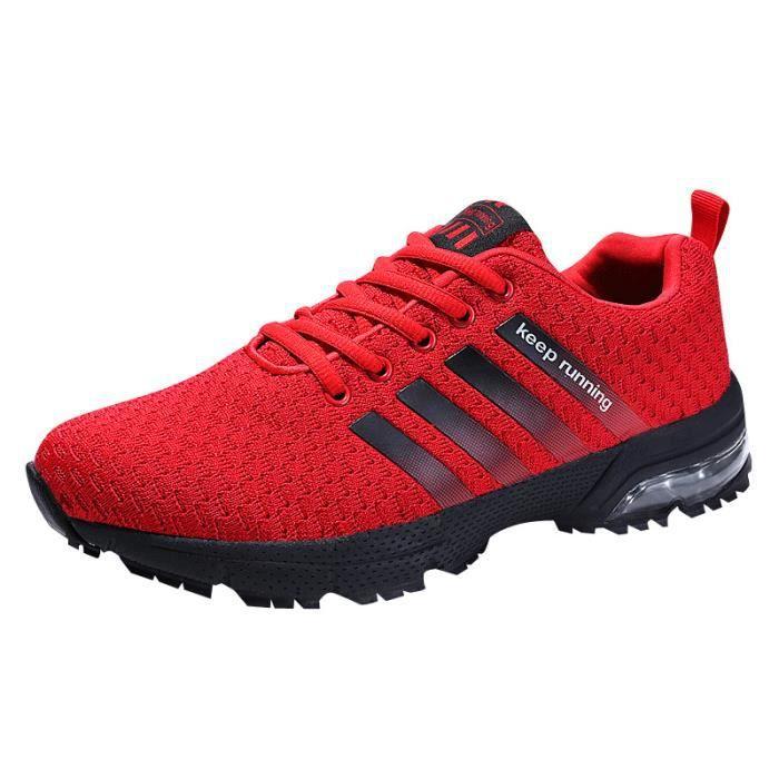 Rouge Chaussures noir Mixte Sport De Homme Femme bleu Baskets blanc Air w0Ixq