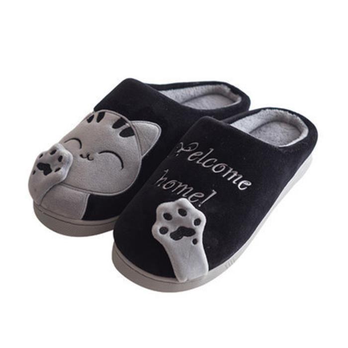 Chausson Homme Qualité SupéRieure Chaussons Nouvelle Mode Chaussures Confortable Loisirs 39-44 CBClyF7L