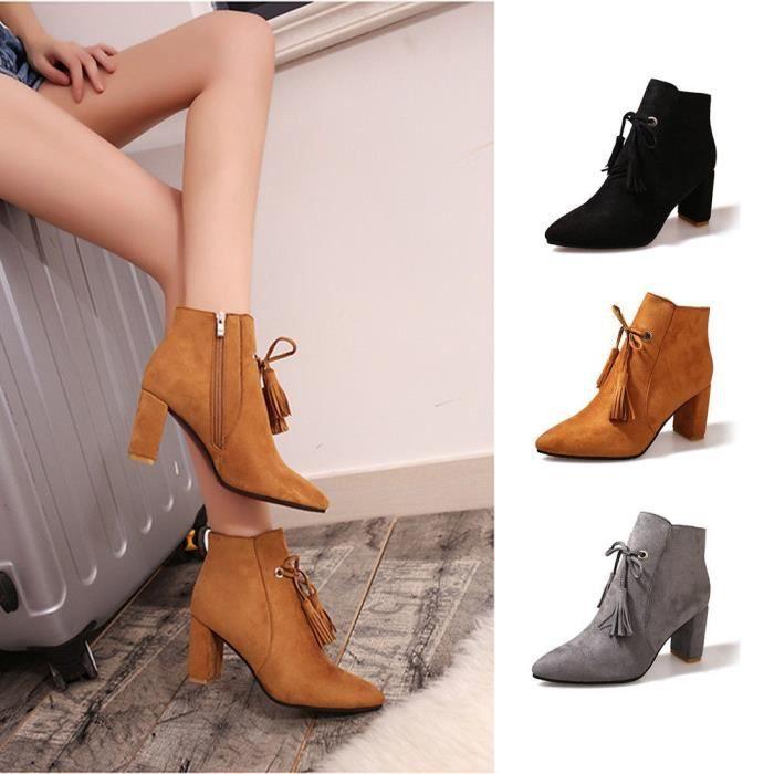 Bottes Au-dessus de la mode élégante Chaussures Zipper femmes 9639708 aXCXD1Ir