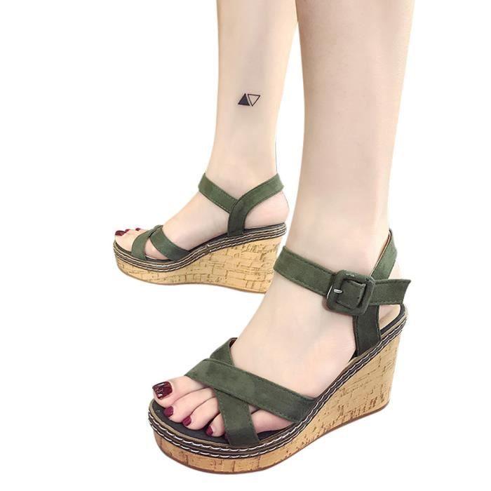 36c1cc45b75f05 Chaussure femme sandale compensees - Achat / Vente pas cher