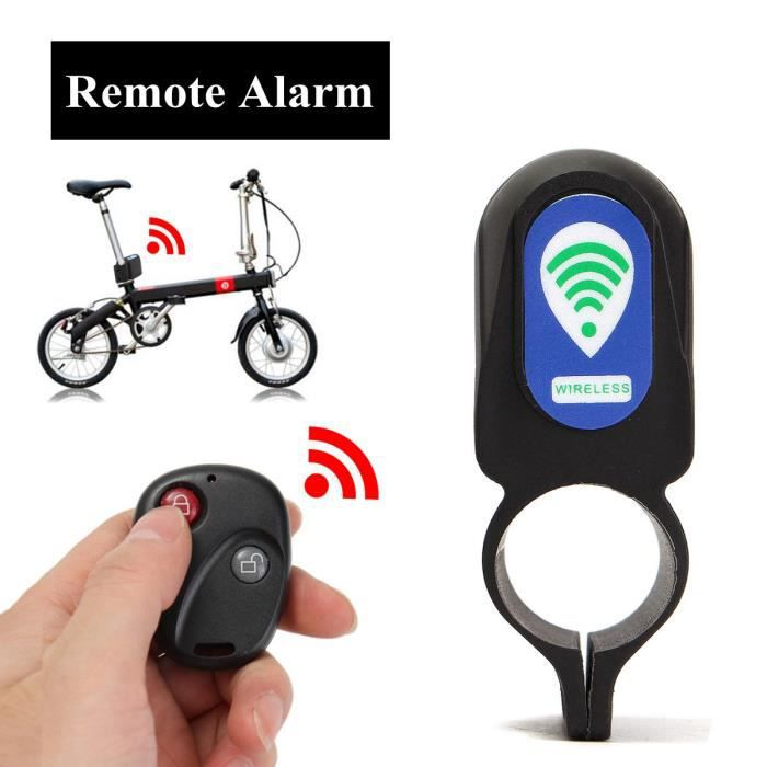D'alarme Sécurité Fil Antivol Pour Neufu Dispositif Vélo Sans Télécommande DHEI92