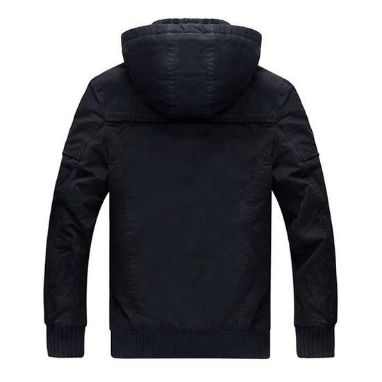 Coat Hiver Automne Noir Outwear Veste Pardessus Hommes Trench Slim Long Caps Zipper 8O5xHqw