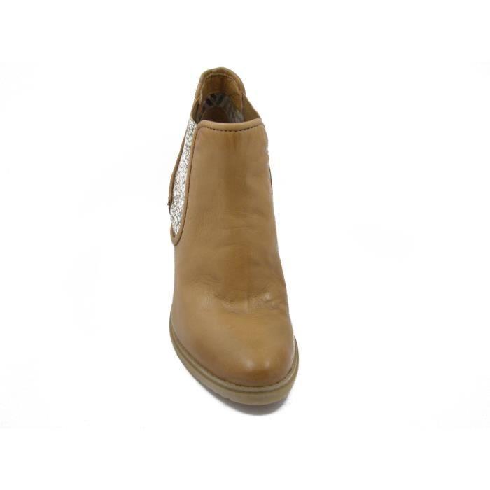 MJUS-Bottes en cuir, modèle Beatles à talons de 7 cm., été-127211