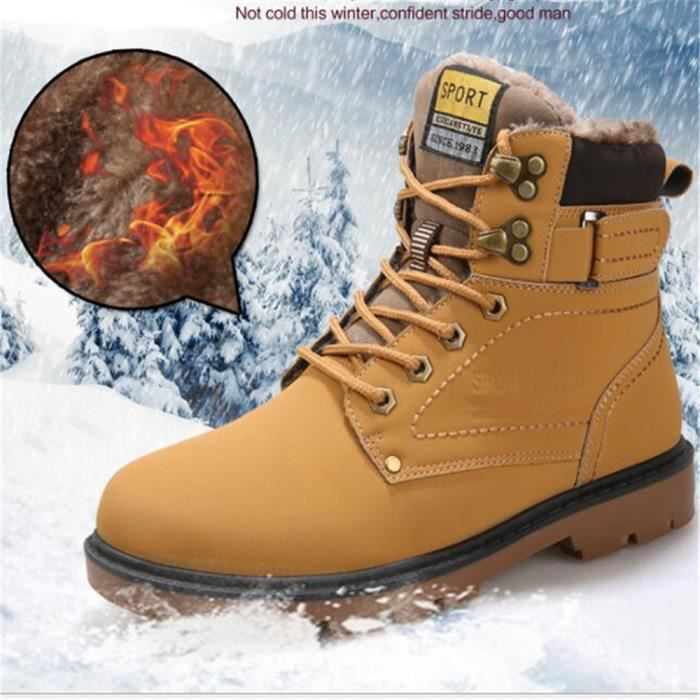 Hommes Martin Botte Marque De Luxe Haut qualité Bottines Automne et hiver Chaussures fourrées Garder au chaud Plus Taille 39-46