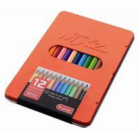CRAYON DE COULEUR Coffret Métal Luxe 12 crayons de couleur MXZ Rouge