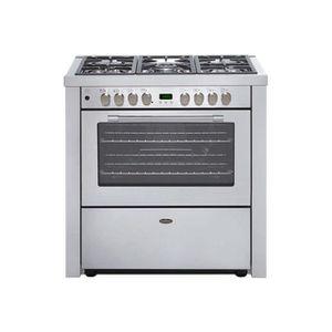 BELLING GOURMET 900 DFT-EU - Piano de cuisson gaz-5 foyers-Four électrique multifonction-91L-A-L89,5xH93cm-Inox