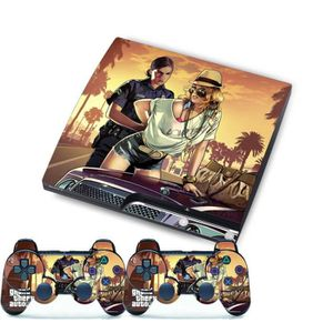 STICKER - SKIN CONSOLE Arrêter Pour SONY PlayStation 3 Slim Console PS3 C