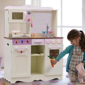 DINETTE - CUISINE Cuisine enfant cuisine jouet pour enfant Blanc lai