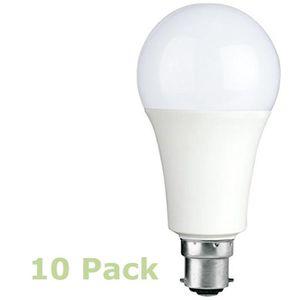 AMPOULE - LED Home Lot de 10 E3light LED A70 B22 ampoules à baïo