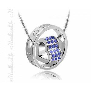 SAUTOIR ET COLLIER Collier anneau gravé violet