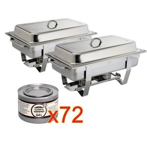CHAUFFE-PLAT 2 chafing-dish Milan et 72 capsules de combustible