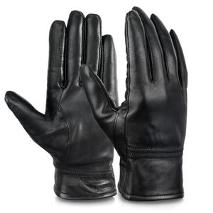 GANT - MITAINE Gants à doigts entiers pour femmes en cuir véritab