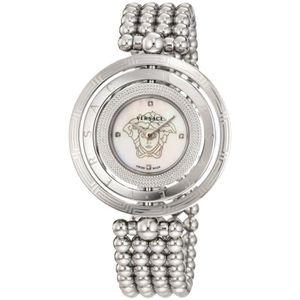 Montre » Versace Womens 80Q99Sd497 S099 Eon 3 Anneaux Bracelet en acier  inoxydable avec la mère-of-pearl cadran et Diamant Ac… a40c585c92c