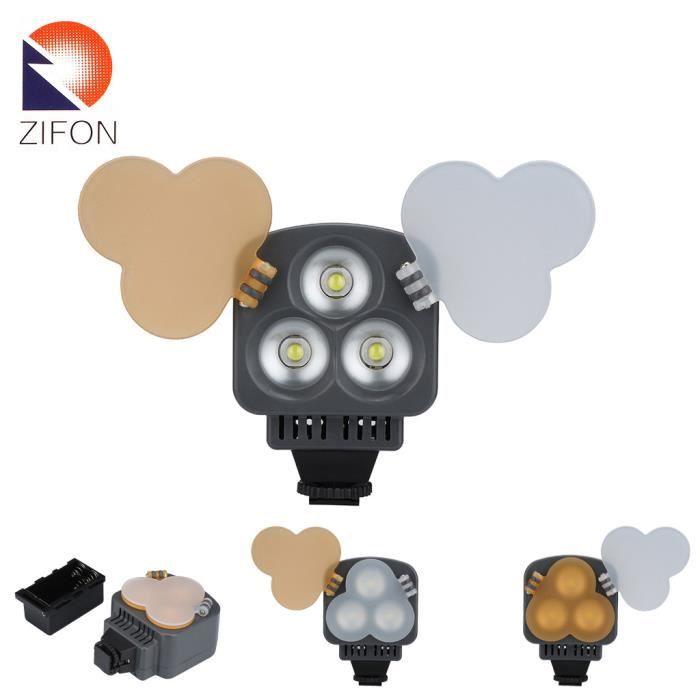 Pour Lampe D'éclairage Canon Caméscope Zifon 3 Led Caméra Nikon Sony IYb76gyvfm