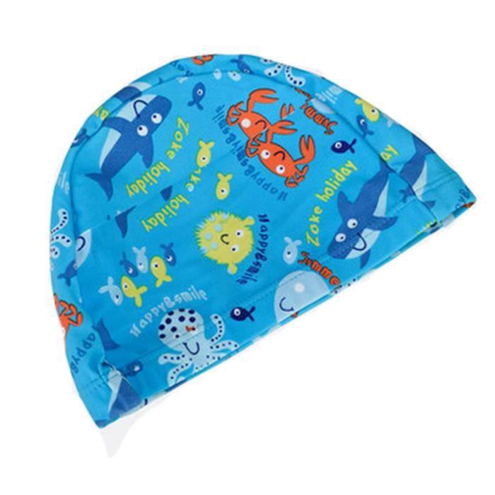 Tricoté Natation Le monde sous-marin enfants Caps bébé Bonnet de bain, Bleu 784023f655b