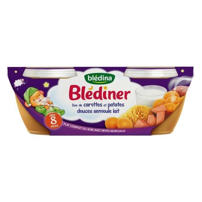 PURÉES DE LÉGUMES BLEDINA Blédîner Duo de carottes et patates douces