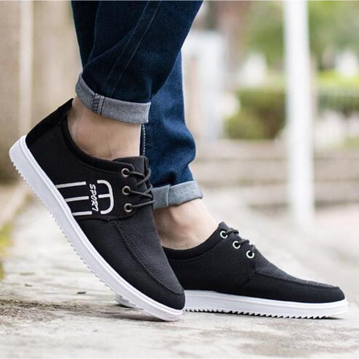 d57edc71fc8 2016 chaussures occasionnelles respirant mode hommes nouveau printemps été  hommes appartements homme chaussures en toile