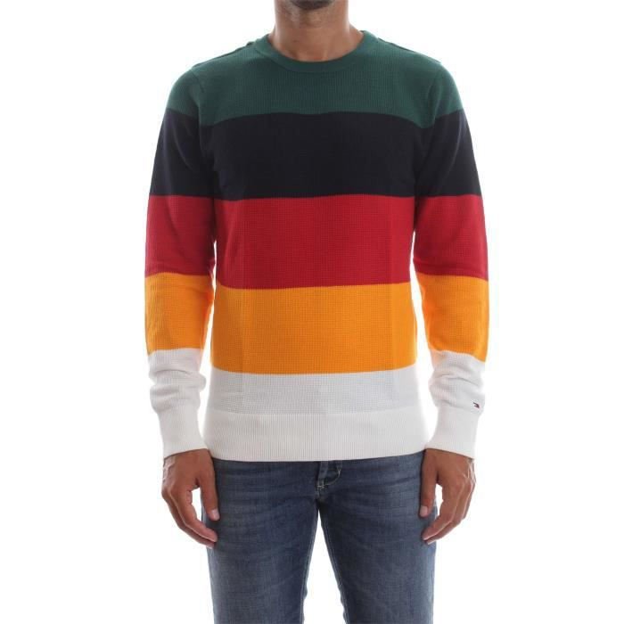 8a5d4100059d3 TOMMY HILFIGER PULL Homme Multicolor Multicolor - Achat   Vente pull ...