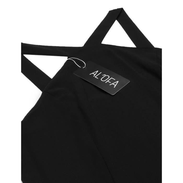 Robe de femme Casual Halter sans manches Froid à lépaule Solid A-Line plissé Swing