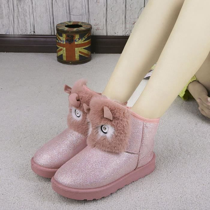 Cheville gg Chaud Chaussures Bottes Mode Occasionnel Lady Hiver Femmes Neige rose Xqxw6t8v