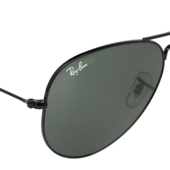 c4d50c71f6 RAY-BAN Lunettes de Soleil Aviator Classic RB3025 Mixte Noir Noir - Achat /  Vente lunettes de soleil Mixte - Soldes d'été Cdiscount
