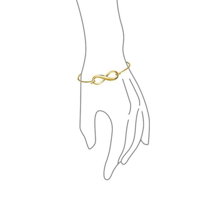 Bling Jewelry Argent 925 plaqué or Bracelet Bangle empilables infini