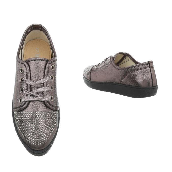 36 Gris Gris Sneakers Femme Des Argent noir Baskets Chaussures wpqY0WXX