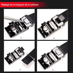... CEINTURE ET BOUCLE Cuir boucle automatique Ceintures Fashion sangle d.  ‹› a4e18d90fda