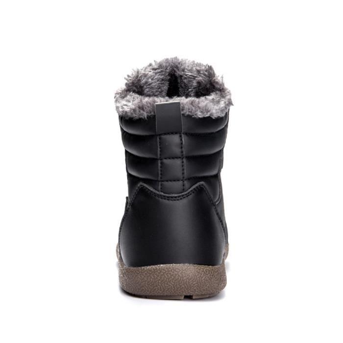 Classique d'hiver Bottes de neige bottillons cheville extérieure étanche J99AO Taille-40 1-2