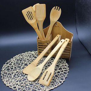 SPATULE - MARYSE 5 Piece Set bambou Ustensile de cuisine Outils de