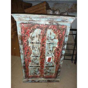 ARMOIRE DE CHAMBRE Armoire basse Arche turquoise rouge