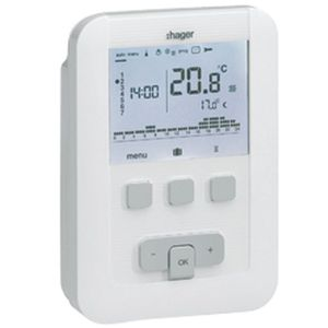 THERMOSTAT D'AMBIANCE Thermostat ambiance programmable - HAGER digita…
