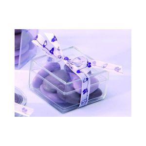 BOÎTE À DRAGÉES 10 boîtes à dragées carrées transparentes célébrat
