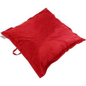POUF - POIRE Coussin Pouf XXL imperméable rouge 120x120 cm