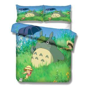 HOUSSE DE COUETTE ET TAIES Totoro Parure de Couette Imprimé Adulte-Enfant 1 H