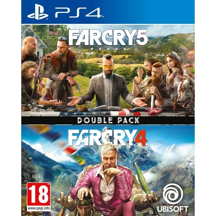 Compilation Far Cry 4 + Far Cry 5 Jeux PS4