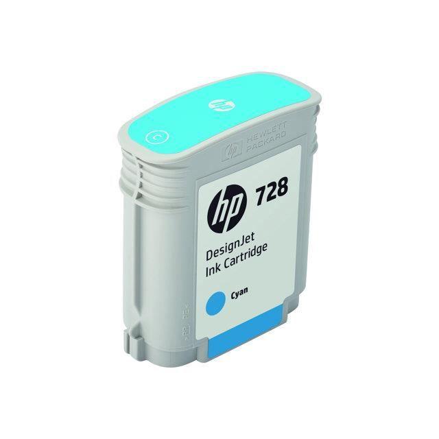 HP cartouche d'encre 728 - Jaune 40-ml
