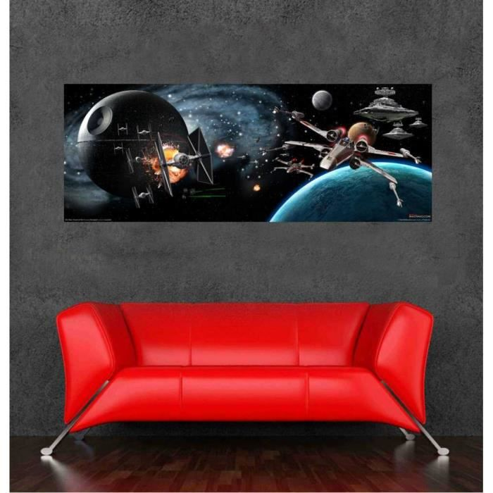 affordable grande taille autocollant mural star wars affic with grand poster mural. Black Bedroom Furniture Sets. Home Design Ideas