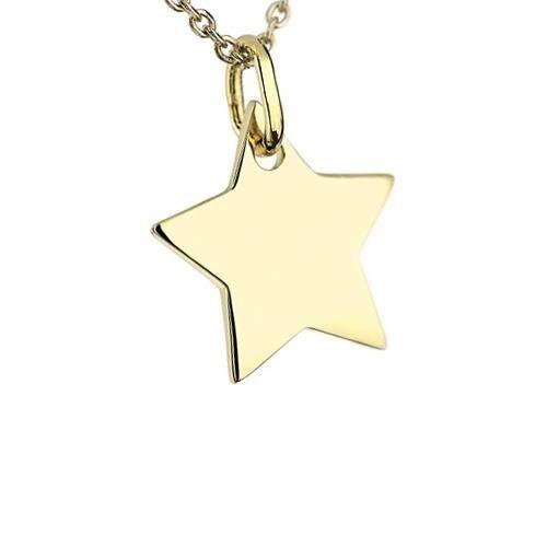 Pendentif étoile 21 mm en plaqué or 18 Ct 750-1000