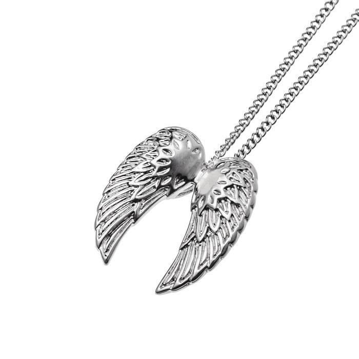 Image D Ange Homme collier homme ailes d'ange en pendentif avec chaîne en acier