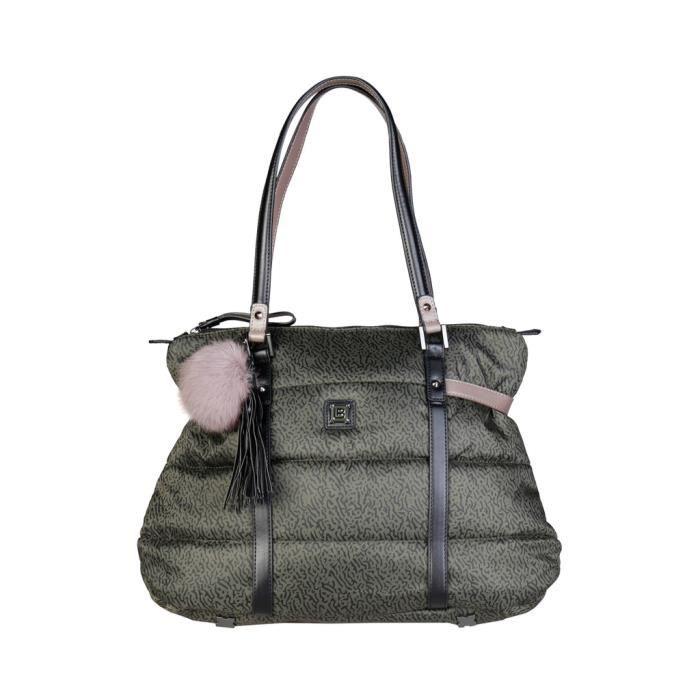 Cyllene Fantaisie - Sac porté épaule pour femme (LB17W108-1_MILITARE) - Vert