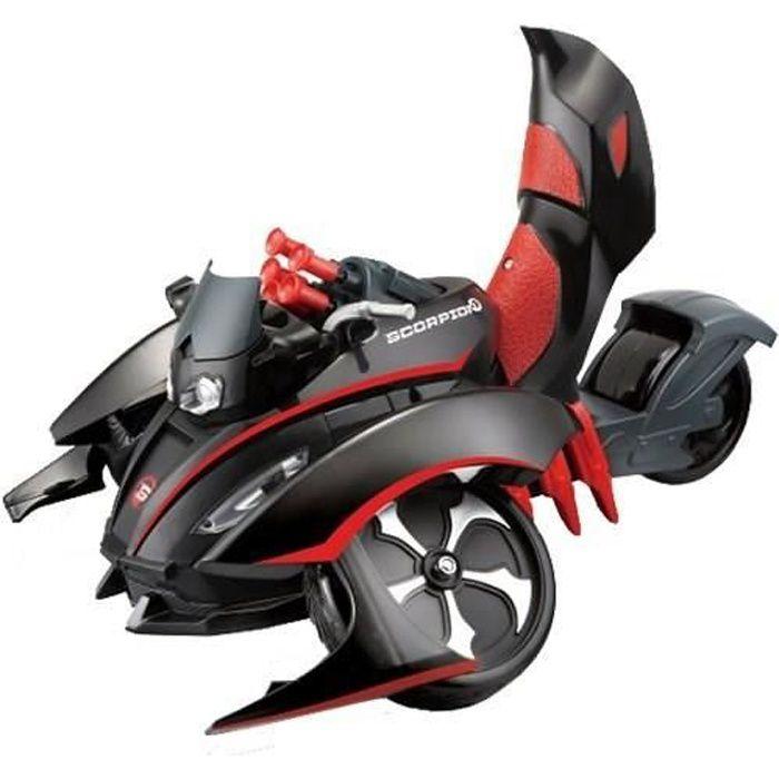 Tech Voiture Transformable Moto Rc Scorpion Télécommandée Maisto Lance Missiles TJc31lFK