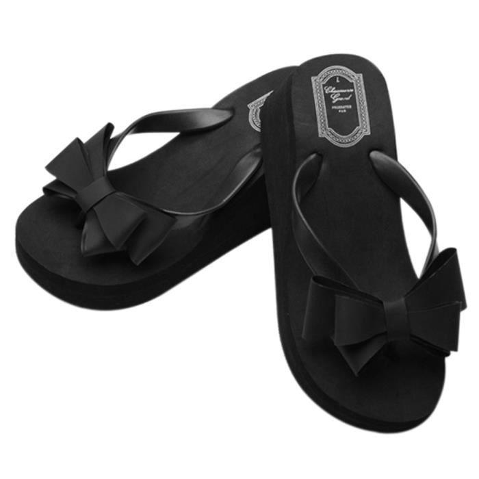 Femme Mode Chaussure Pantoufle Très Beau Cool En Eté noir 39 ID8vNjJtg