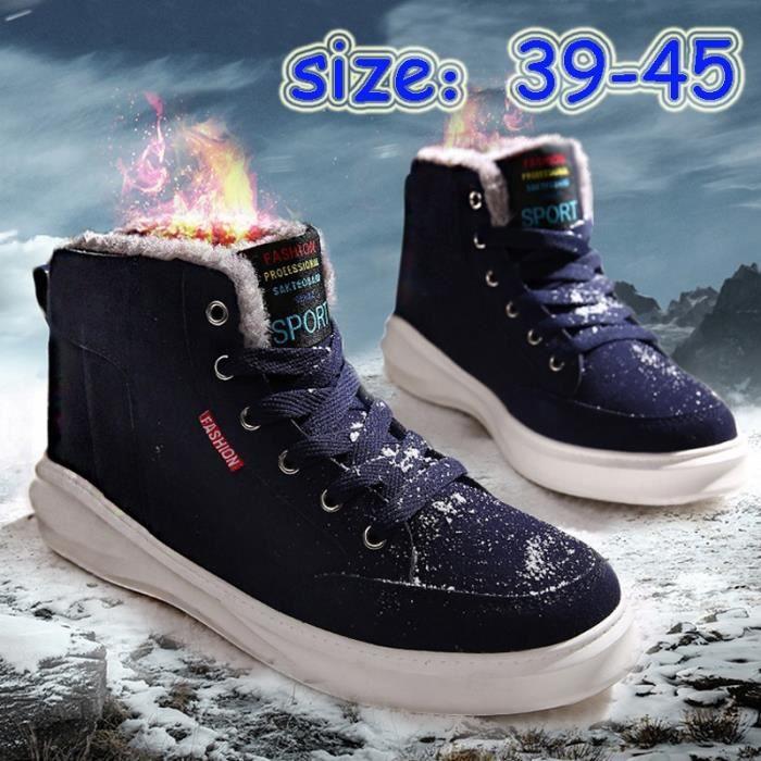Homme Keep Loisirs en chaud plus de coton Pile Chaleureuse conception Chaussures Neige chaussures Mode Bottes awBd44q