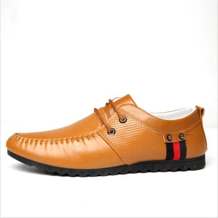 Moccasins Homme Confortable Durable Respirant Chaussures Haut qualité cuir De Marque De Luxe chaussure 2017 Plus Taille 39-44 JphzJpw