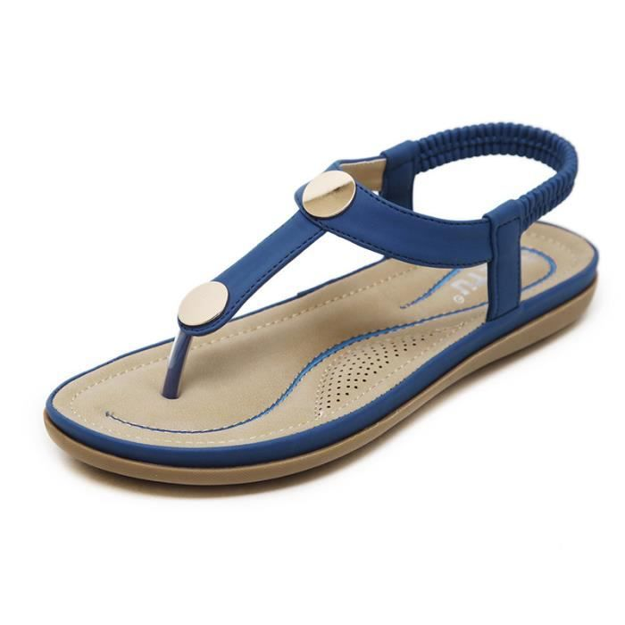 Sandales Chaussures Plage Femme Luxe Simple 88KMIxgG6