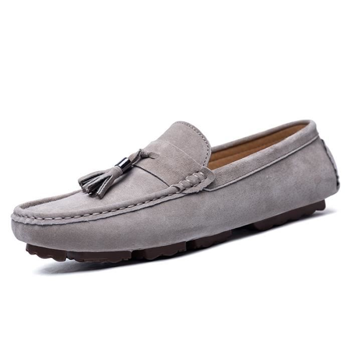 photos officielles cf1ca ad565 Chaussure Mocassins Homme - Suede Chaussures Cuir Homme