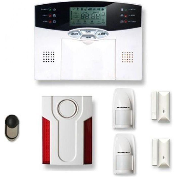KIT ALARME Alarme maison sans fil 1 à 2 pièces MN mouvement +