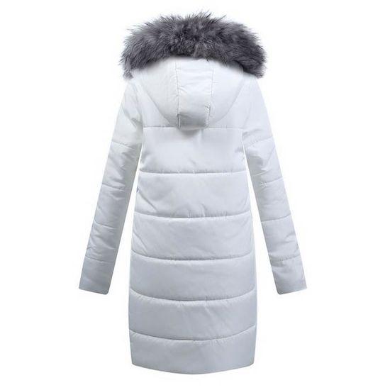 Manteau Dames Matelassée Vers Capuche Parka Coton Bas Veste Hiver À Exquisgift Blanc Outwear Le Femmes qYwpw8F