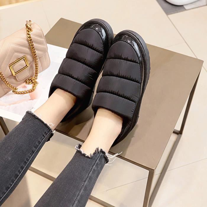 Talkwemot4788 Femmes Pain Neige De D'hiver Loisirs Impermable Gardez Chaussures Bare Bottes Plates Chaud FqFSwZ17a